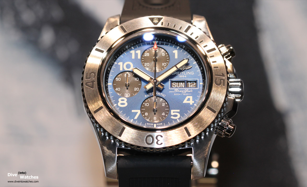 Breitling_SuperOcean_Steelfish_Blue_Front_Baselworld_2014