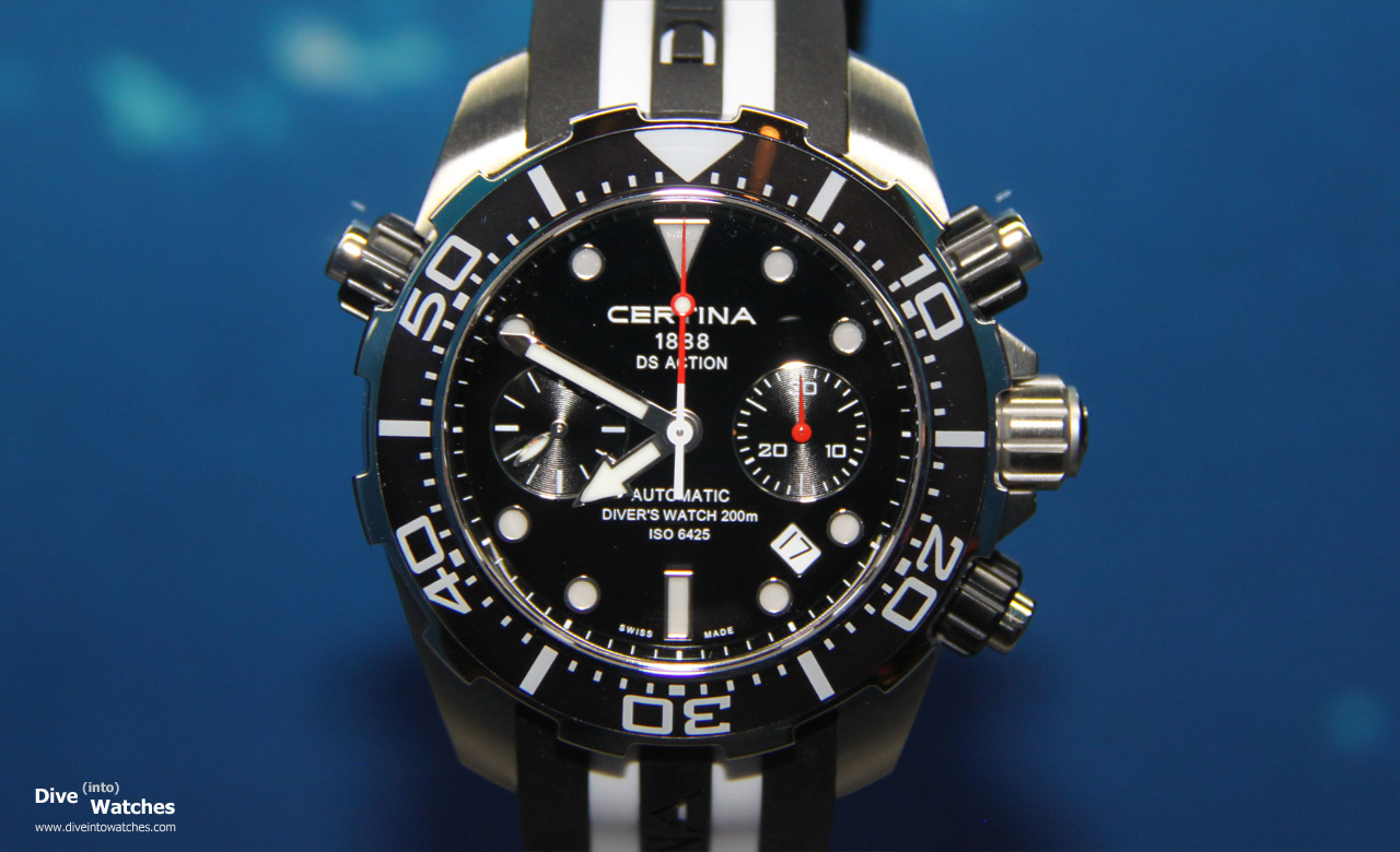 Certina_DS_Action_Diver_Chrono_Black_SS_Front_Baselworld_2012