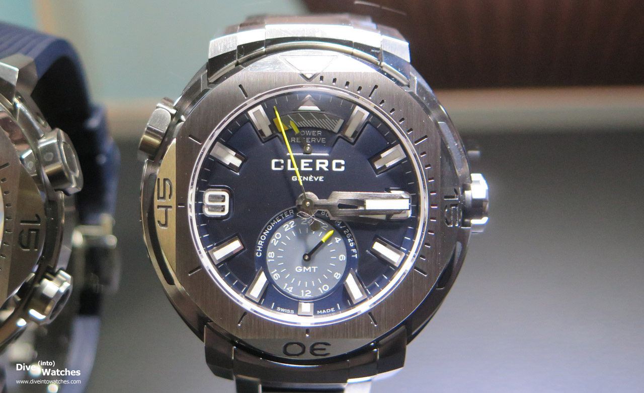 Clerc_Hydroscaph_800_SS_GMT_Blue_Front_Baselworld_2015