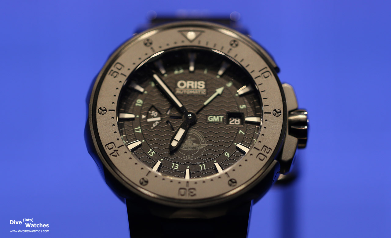 Oris_Sixty_Force_Recon_GMT_Diver_Front_Baselworld_2015