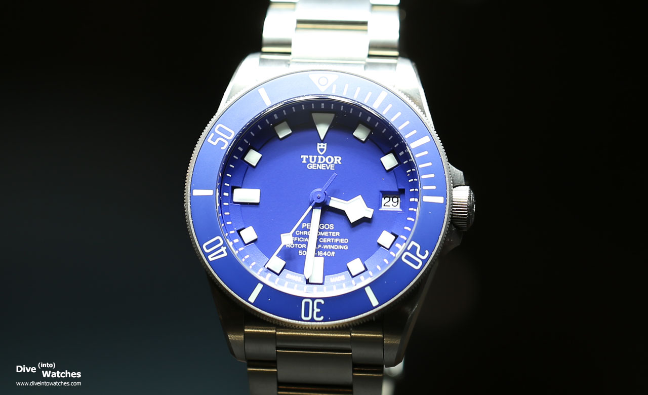 Tudor pelagos blue gphg front geneva 2015 dive into watches for Tudor geneve watches