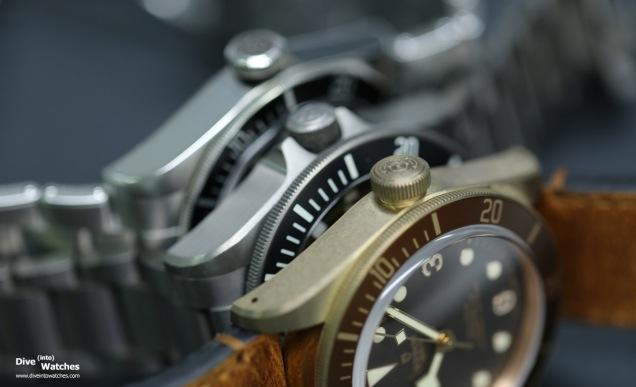 Die Tudor Taucheruhrenkollektion umfasst damit Stahl, Bronze und Titan